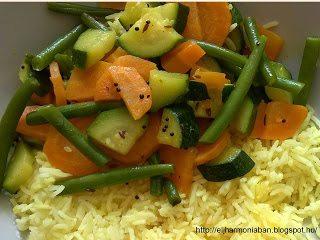 vegetable subji, ájurvédikus menü, ayurvedic subji,