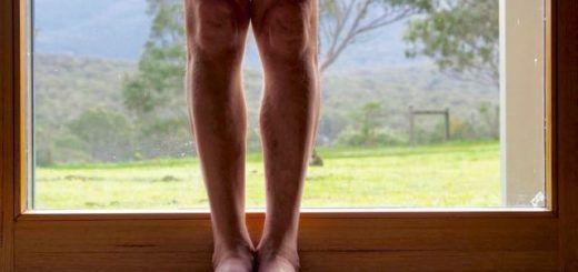 Tadasana knees