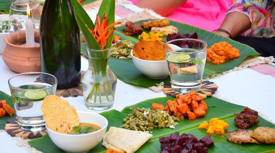 Zöld jóga Indiában vegetarianus ételek